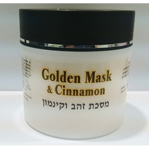 Gold and cinnamon mask