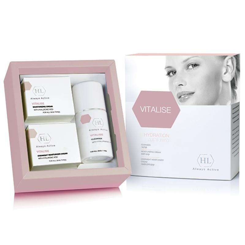 Набор - Holy Land - Vitalise kit (мыло-cleanser 100ml,дневной крем day cream 50ml,ночной night cream 50ml)